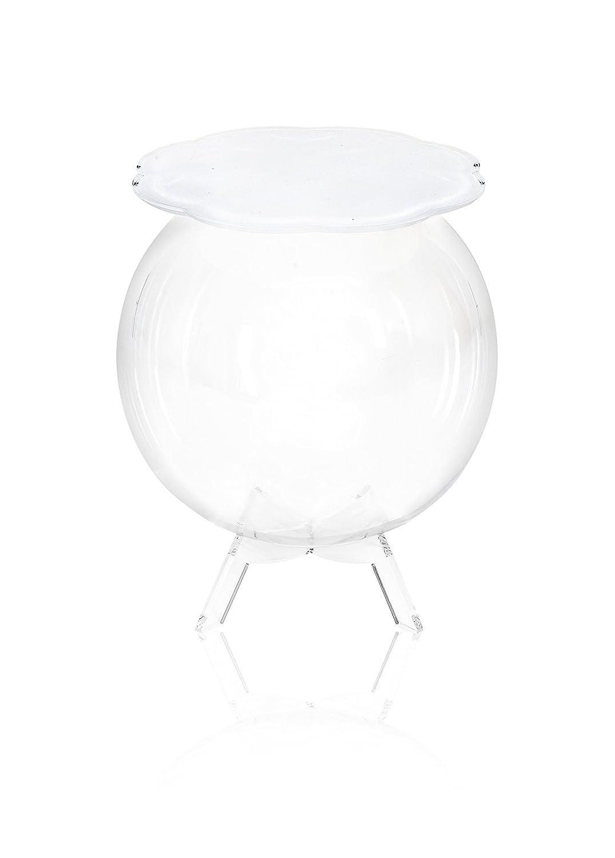 Iplex Design Bollino Tavolino/Comodino Contenitore, Plexiglass ...