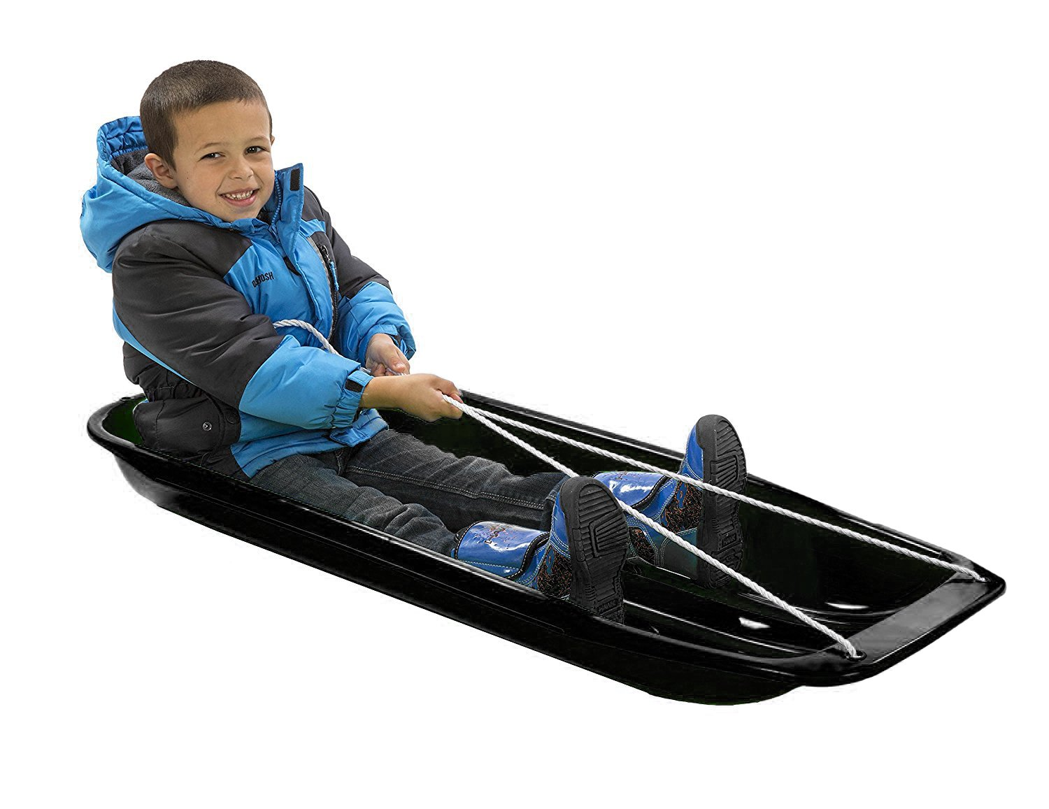 lucky bums snow kids toboggan sled black 48 sporting. Black Bedroom Furniture Sets. Home Design Ideas
