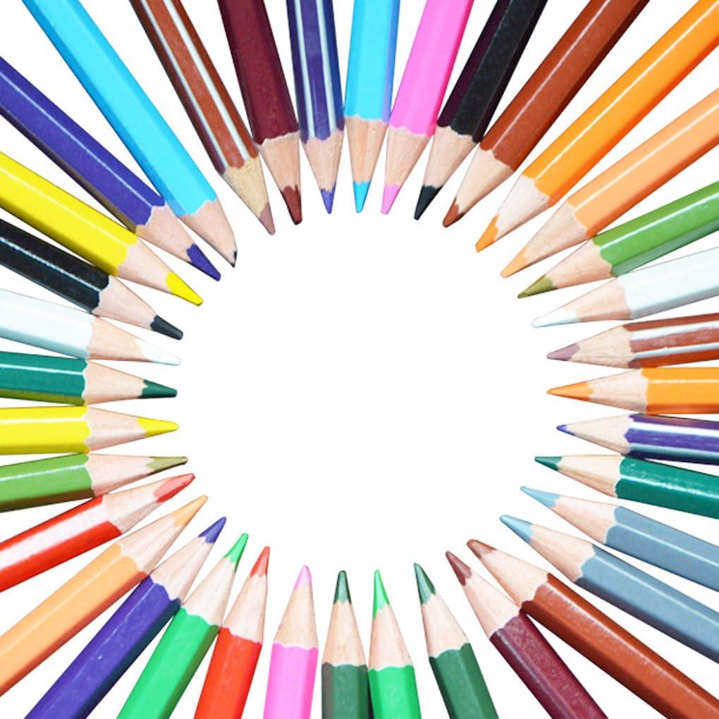 Bao Core 36pcs Assorted Color Wooden Color Pencils Design for Secret Garden Adult Coloring Books Drawing Pencils for Artist Sketch Scrapbooking Sketching
