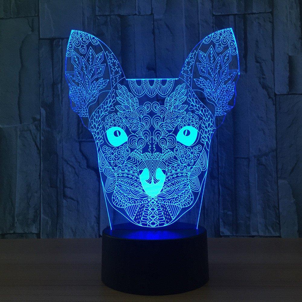Jinson well 3D chihuahua hund Nachtlicht Lampe optische