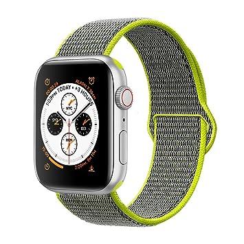 d14c41550a8 VODKER para Apple Watch Correa Bandas 38mm 42mm 40mm 44mm Nylon Correa de  Reloj