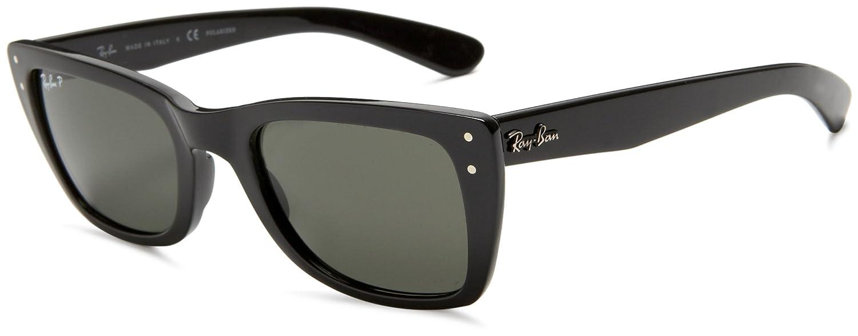3f7a58dd215 Ray Ban Men s Rb4148 Caribbean Black Frame Green Polarized Lens Plastic  Sunglasses  Amazon.co.uk  Clothing