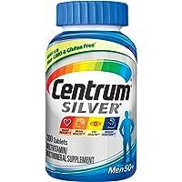 Centrum Silver Multivitamin for Men 50 Plus, Multivitamin/Multimineral Supplement with Vitamin D3, B Vitamins and Zinc…