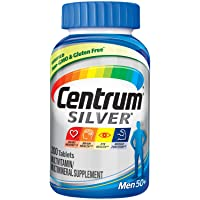 Centrum Silver Multivitamin for Men 50 Plus, Multivitamin/Multimineral Supplement...