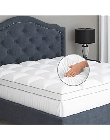 Dual Layer Mattress Topper Bed Pad Memory Foam Gel Plush Pillow Top 4-Inch Thick