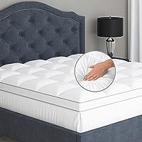 Twin Mattress Topper Pillow Top - Soft 100% Cotton Top Premium Mattress Pad, Optimum Thickness with Down Alternative…