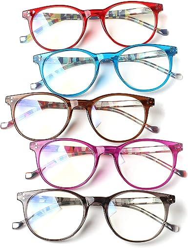 SIGVAN Blue Light Blocking Reading Glasses Computer Anti Eye strain Round Eyeglasses for Women and Men