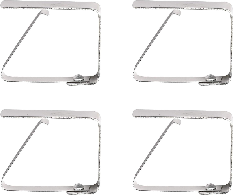 Venilia Clip Plateado INOX, sujeta, Pinzas mantels, manteles, Juegos de Pesas, 4 tajada, 54201, 20 x 15 cm