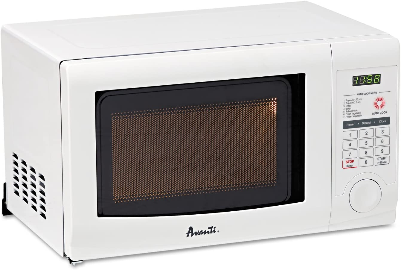 Avanti MO7191TW 0.7 Cubic Foot Capacity Microwave Oven, 700 Watts, White