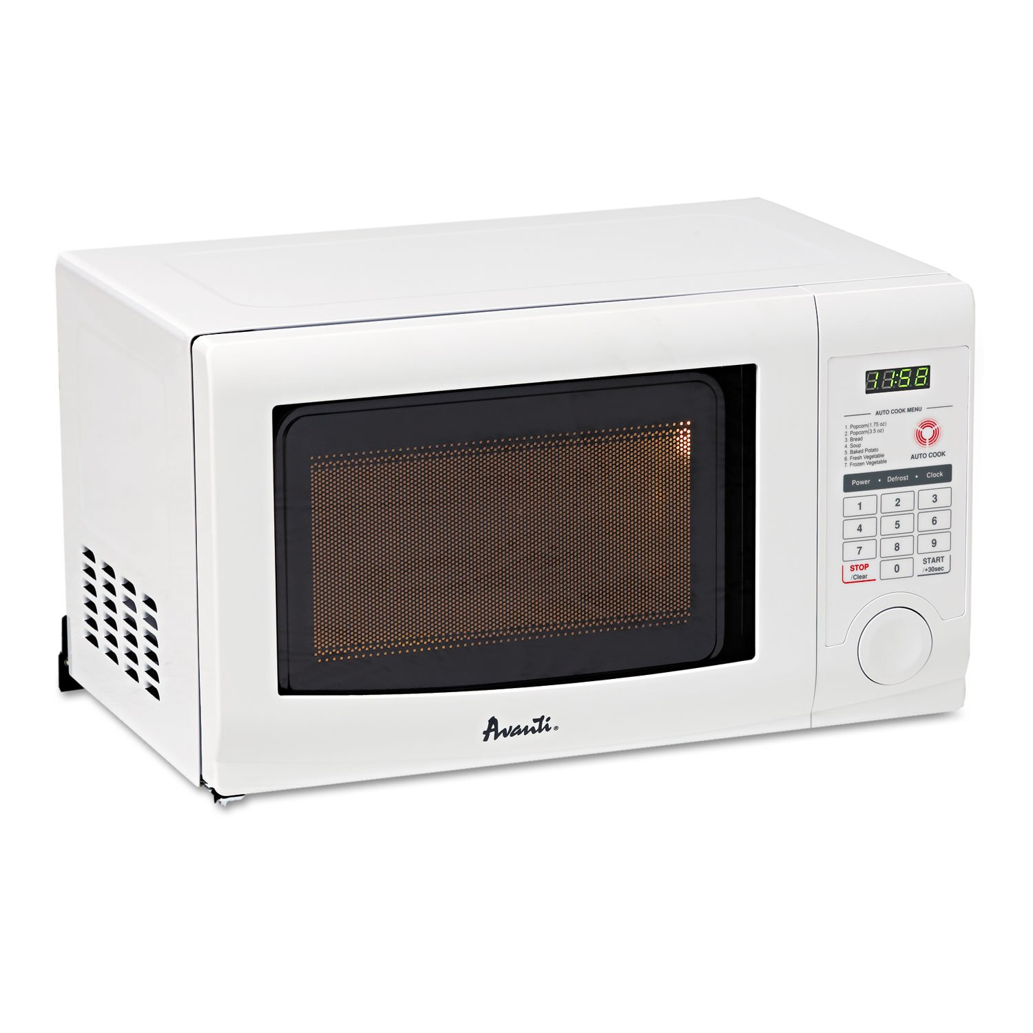 Avanti 18 0.7 cu.ft. Countertop Microwave MO7191TW Color: Black recommend