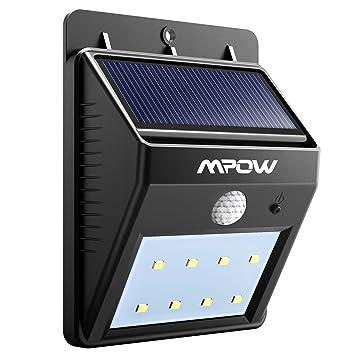 8 LED eclairage exterieur imperméable, Mpow eclairage terrasse Sans ...