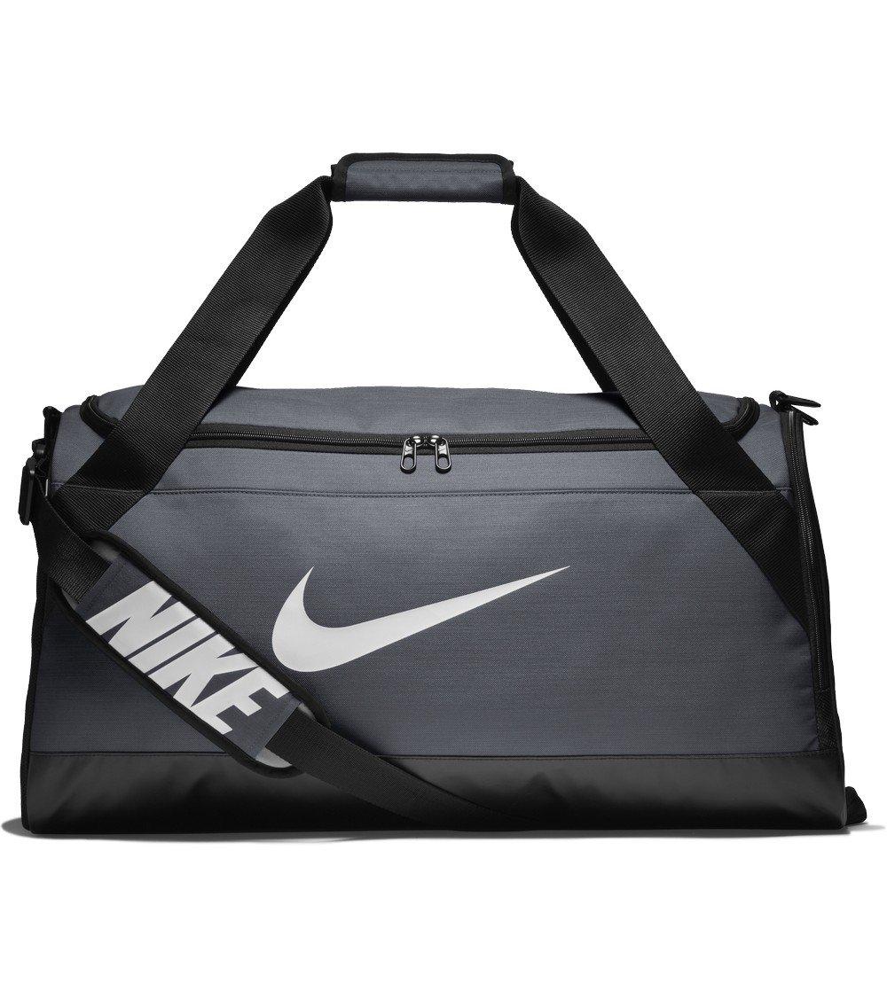 Nike Brasilia (Medium) Training Duffel Bag, Flint Grey/Black/White, One Size