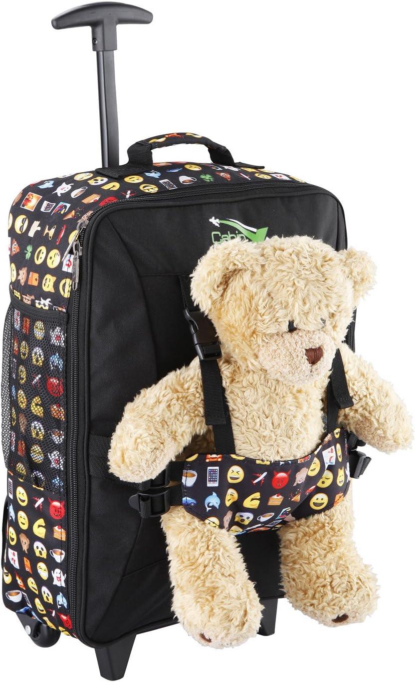 Cabin Max Bear - Maleta con Ruedas para Niños Bolso para Osito de 50 x 34 x 20 cm (20 x 13,5 x 8 Pulgadas) - 33 L - ¡Ligera! (Emoji)