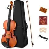 Eastar EVA-2 1/2 Violin Set Half Size Fiddle for Kids Beginners Students with Hard Case, Rosin, Shoulder Rest, Bow, and…