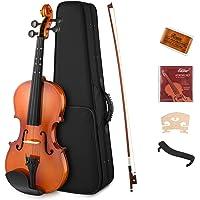 Eastar 1/2 Violin Set Half Size Fiddle EVA-2 for Kids Beginners Students with Hard Case, Rosin, Shoulder Rest, Bow, and Extra Strings (Imprinted Finger Guide on Fingerboard)