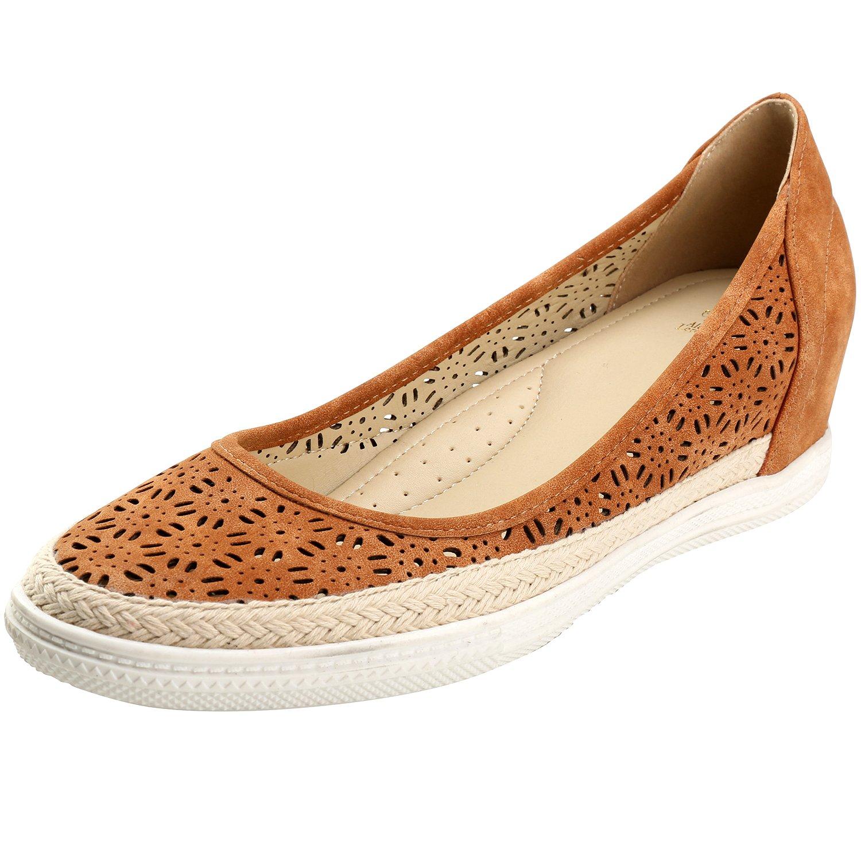 Alexis Leroy Cutout Round Toe Flower Breathable Women's Espadrille Shoes B01N4IMN7B 40 M EU / 9-9.5 B(M) US|Camel