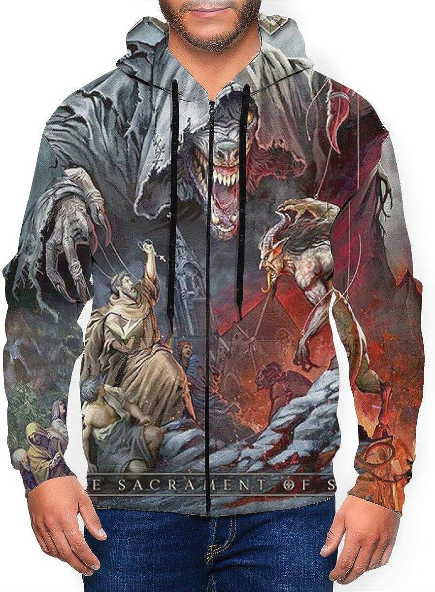 DABSON Powerwolf The Sacrament of Sin Mens Hoodie Jacket Black