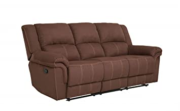 dafnedesign com canap relax 3 places couleur marron version 3 - Largeur Canape 3 Places