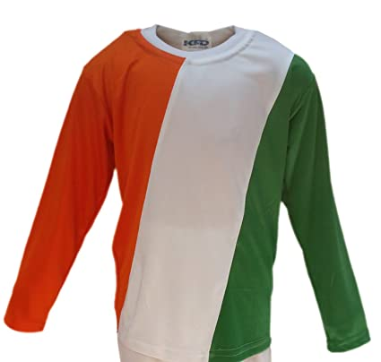 cac89549cf KAKU FANCY DRESSES Kids Tri Color T-Shirt Costume for Independence  Day/Republic Day