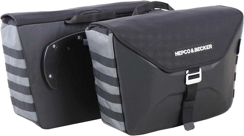 colore: Antracite 2 x 25 litri Valigetta laterale per moto C-Bow Hepco /& Becker Xtravel