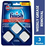 Finish Dishwasher Cleaner, In-wash Cleaner, 3 Count, Grease Removal, Runs With Dishes