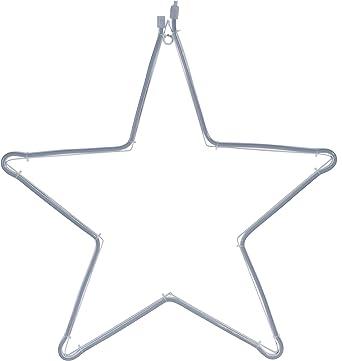 LED Stern 240 SMD LED kaltweiß - 57x55 cm - Neon Lichtschlauch Star  beleuchtet Außen Weihnachtsdeko