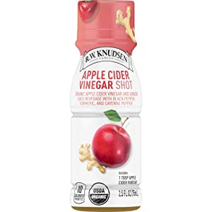 R.W. Knudsen Organic Apple Cider Vinegar Juice Shots, 2.5 Fluid Ounces (Pack of 12)