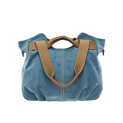 Umily Mujeres Bag Bolsos bandolera Mutil Function Bag Crossbody Bag Tote Carteras de mano-azul: Amazon.es: Zapatos y complementos