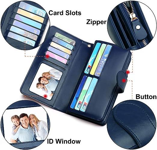 Da Uomo RFID morbido Nero Vera Pelle Tasca Monete Portafoglio Borsellino Borsetta ID Holder 340