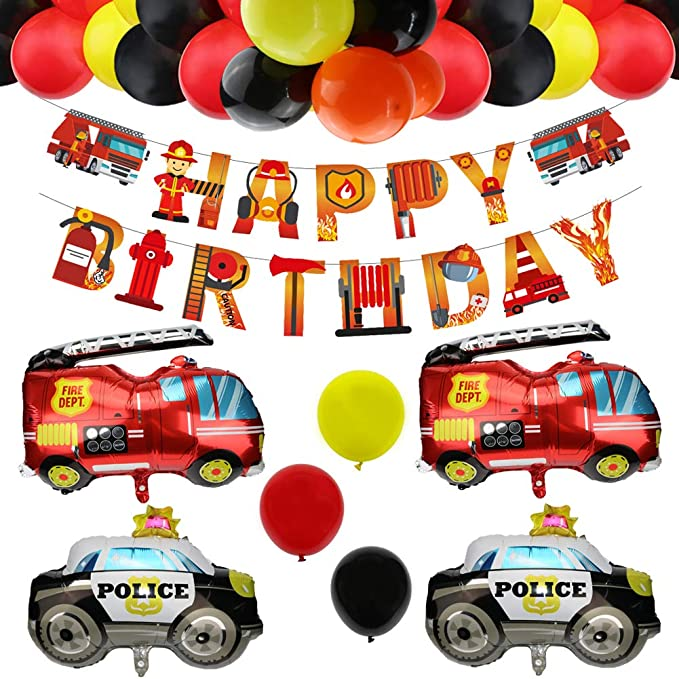 I am one Birthday Banner Little fire fighter Highchair banner Fireman banner 1st Birthday garland decoration Party banner FireFighter
