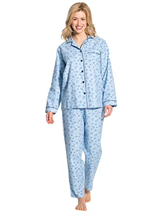 énorme réduction f9366 a3112 Thermovitex - Pyjama en flanelle pur coton, femme: Amazon.fr ...