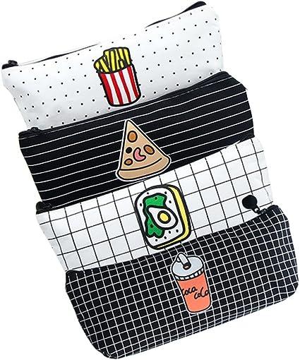 Fmeida – 4 estuches tipo bolsa con cremallera para el material de escritura del estudiante, también se usa como bolsa de maquillaje: Amazon.es: Oficina y papelería