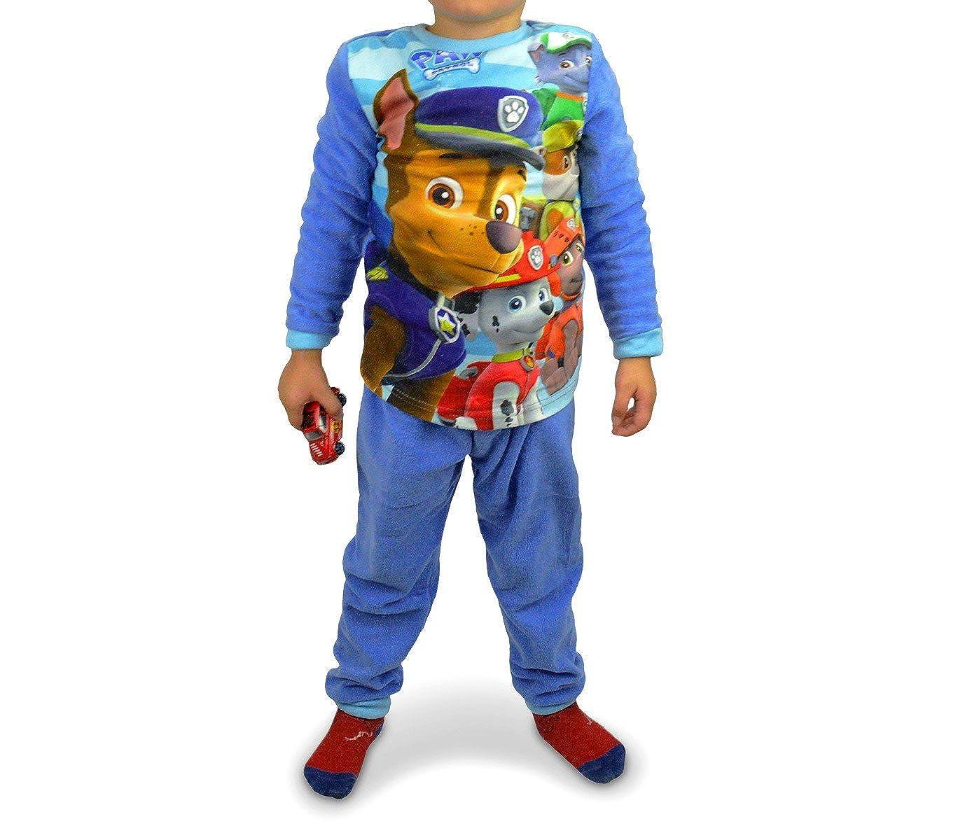 MEDIA WAVE store /® 5 anni 897018 Pigiama da bambino con grafica di Paw Patrol in caldo pile da 3 a 6 anni