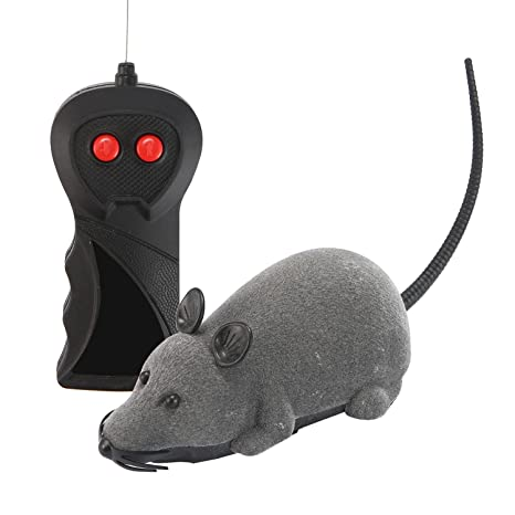 Auoker - Ratón de Juguete para Gato con Control Remoto inalámbrico, Juguete automático para Gatos