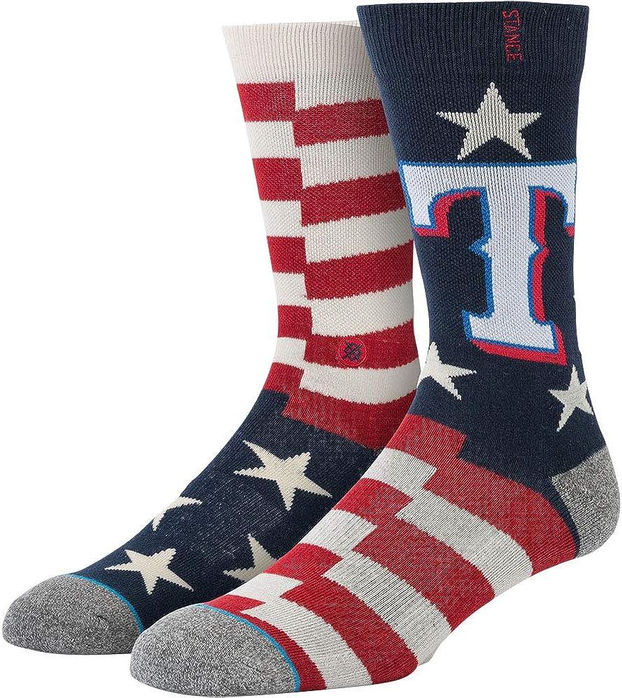 Stance Men's Mlb Brigade Crew Socks Texas Rangers