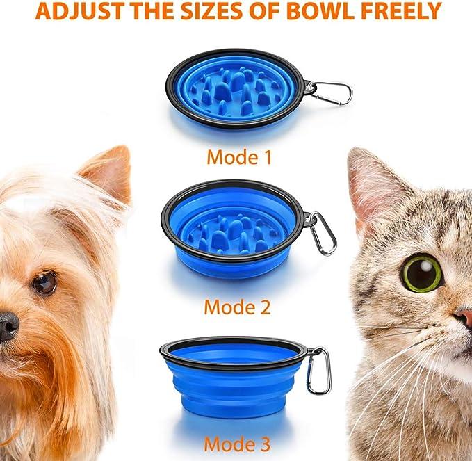 Azul RCruning-EU Cuenco para Perros con Alfombra Antideslizante Comedero para Mascotas Perro Gato Azul
