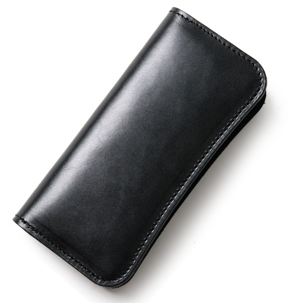 (東京下町工房)長財布 メンズ財布 本革 栃木レザー ヌメ革 日本製 全6色 B07CBC2HSM ブラック ブラック