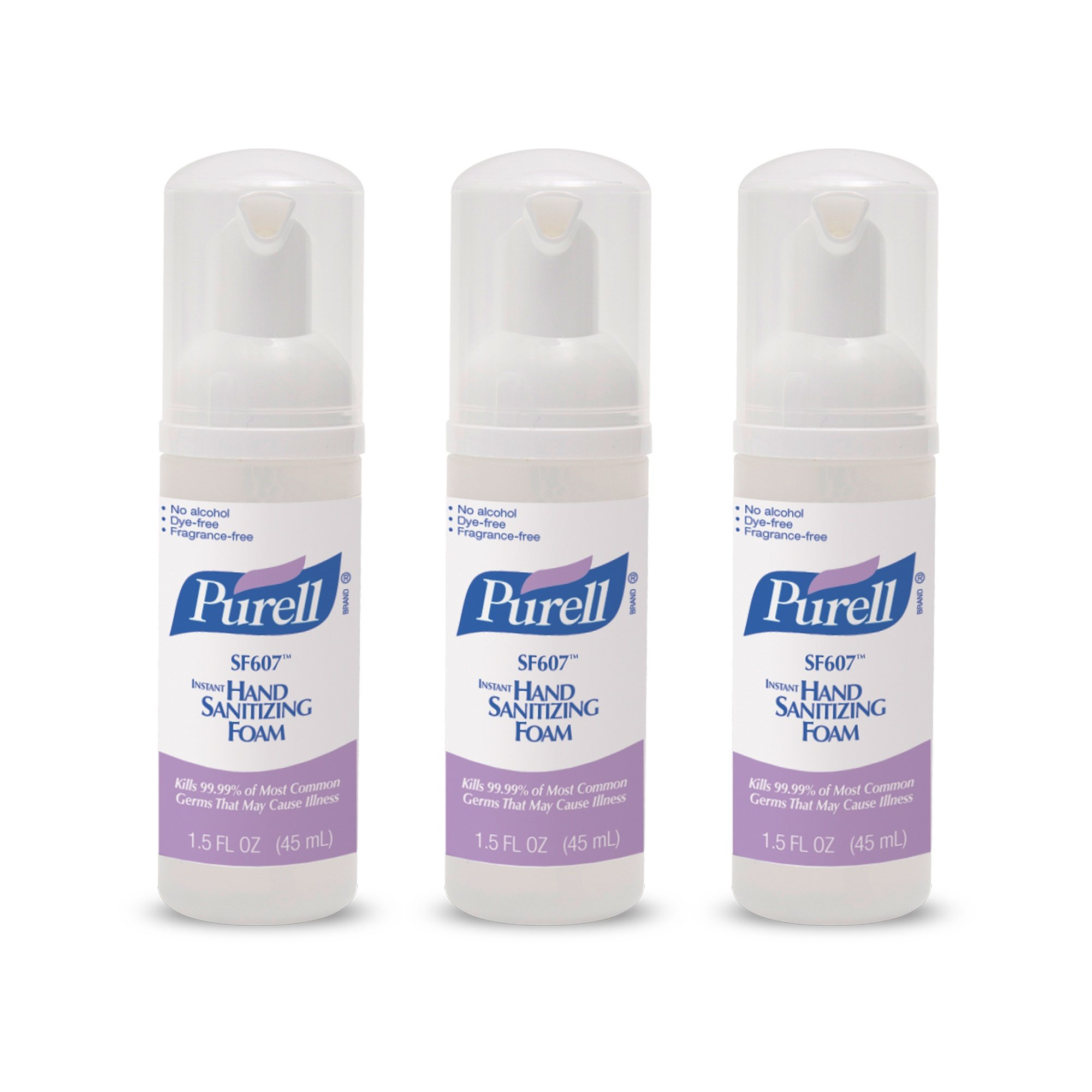 PURELL SF607 Hand Sanitizer Foam Pump Bottle - Portable Foaming Hand Sanitizer, 45mL Pump Bottle (Case of 24) - 5684-24