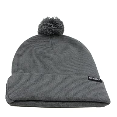 58fb609ff Donkey 401201 Beanie with changeable bobble, grey: Amazon.co.uk ...