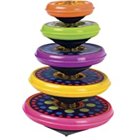 (1-Pack) - Toysmith Games Super Stacking Tops Novelty Multi-Coloured