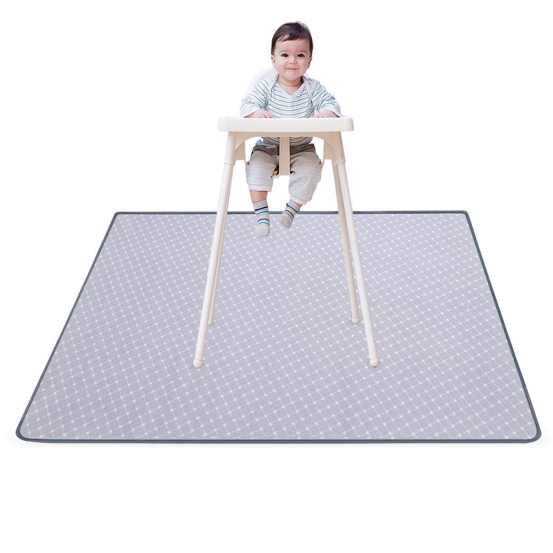 Splat Mat for Under High Chair Floor Mat Baby Waterproof Anti-Slip Splash Mess Mat Portable Play Mat and Table Cloth 51''