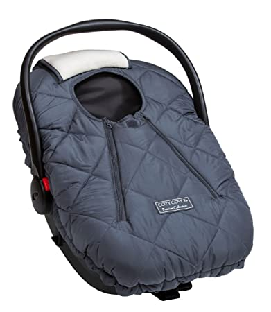 Cozy Cover Premium Infant Car Seat Charcoal With Polar Fleece
