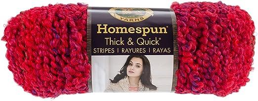 Lion Brand Homespun Thick /& Quick Yarn-coral Stripes