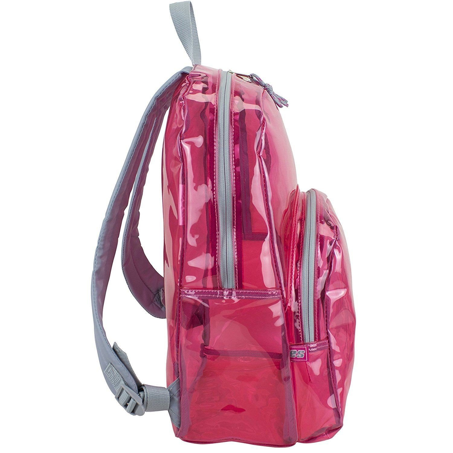 17'' Clear Pink Wholesale Backpack - Case of 24 by Eastsport (Image #3)
