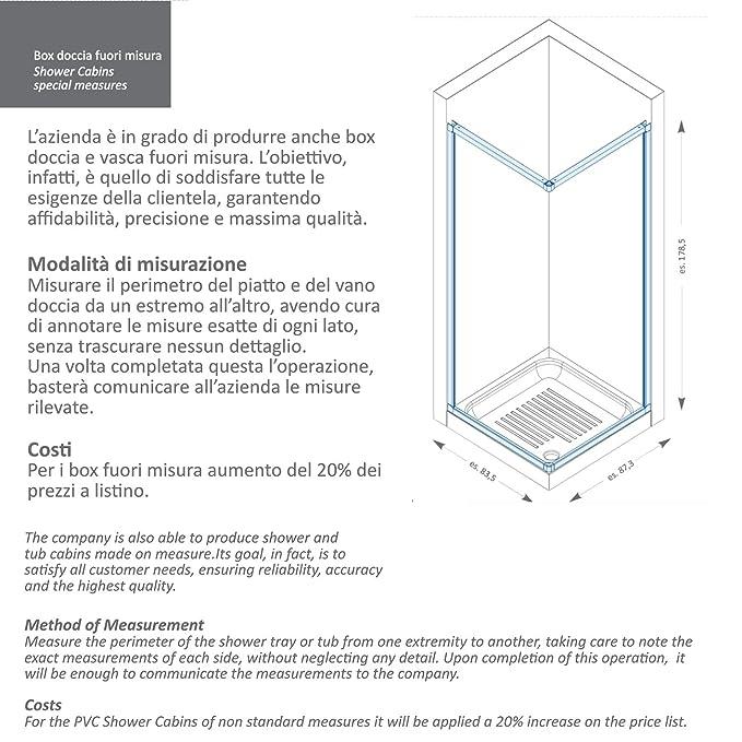 Misure Per Box Doccia.Box Doccia Porta A Soffietto In Pvc Reversibile Adattabile Varie