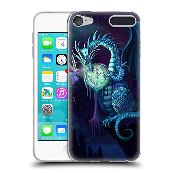 Amazon.com  Official Rose Khan Baby Green Dragons Soft Gel Case for Apple  iPod Touch 6G 6th Gen  Cell Phones   Accessories 7253488c4ea
