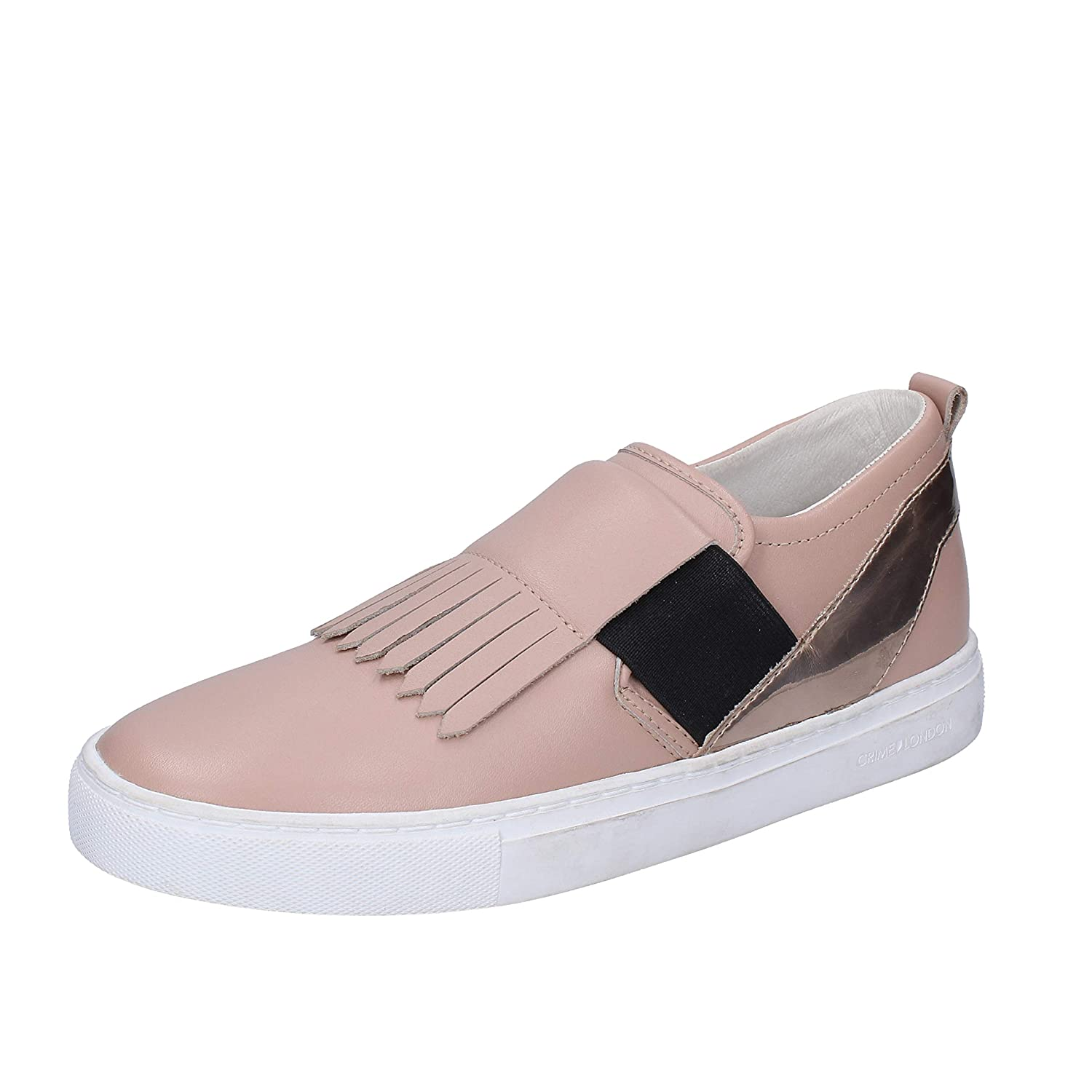 Crime London Mocassini Slip On Donna Pelle Beige (Nude) 37 EU -