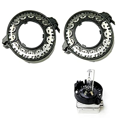 x xotic tech D1S D3S HID Bulbs Holders Clip Rings Retainers for BMW Mercedes Cadillac, etc: Automotive