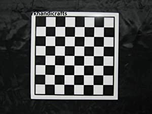 White &Black Chess Table Top, Coffee Table Marquetry Art Item 15 Inches.