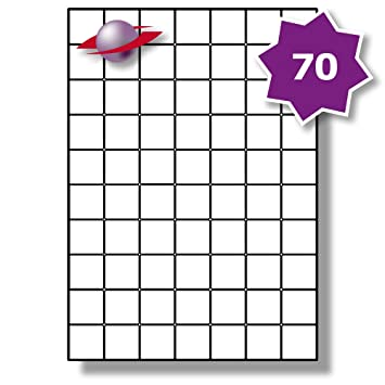 70 per page sheet 5 sheets 350 sticky tiny square labels label